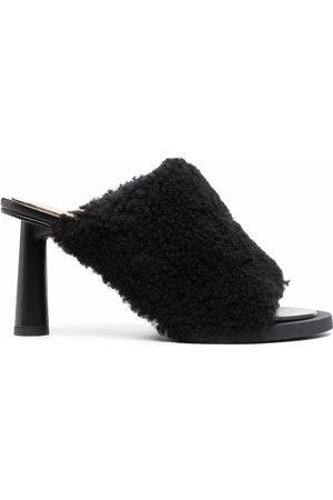 Jacquemus Damen Clogs & Pantoletten - Shearling-trim open-toe mules