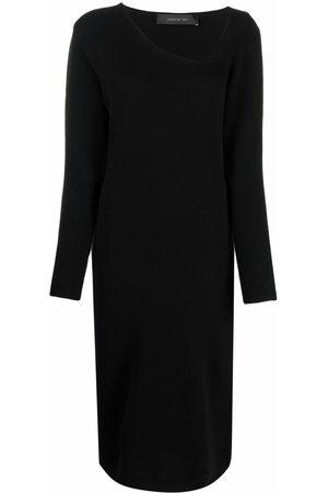 FEDERICA TOSI Damen Freizeitkleider - Strickkleid mit asymmetrischem Ausschnitt