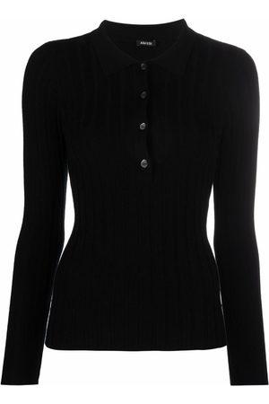 Aspesi Damen Poloshirts - Ribbed knit polo top
