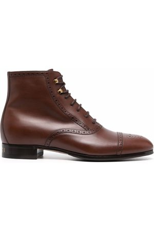 Gucci Herren Stiefel - Brogue-detailed ankle boots