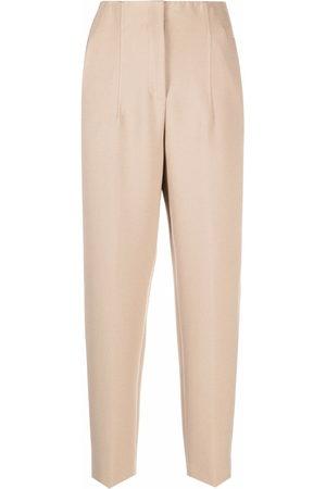 PESERICO SIGN Damen Hosen & Jeans - High-rise straight leg trousers - Nude