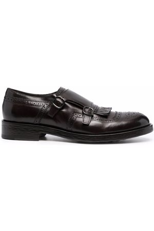 Doucal's Tassel-detail leather monk shoes