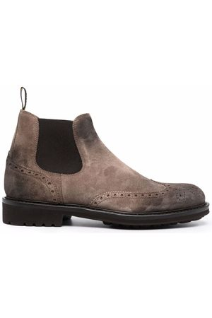 Doucal's Herren Stiefel - Brogue-detail suede ankle boots