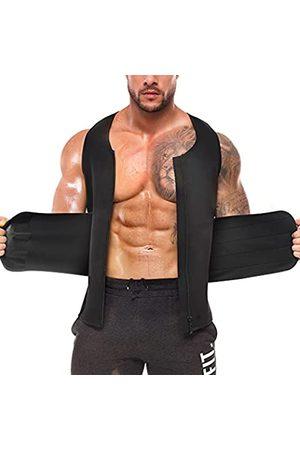REDPAI 2 in 1 Taillentrainer für Männer mit Taillentrimmer, Schweißgürtel, Bauchkontrolle, Neopren, zum Abnehmen, Workout