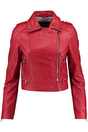 Oakwood Damen Jacke Echtleder 62326, Rouge(Rouge/Rouge)