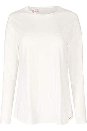 Skiny Damen Schlafanzüge - Damen Sleep & Dream Shirt Langarm Schlafanzugoberteil, Elfenbein (Ivory 7608)