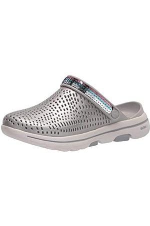 Skechers Foamies Damen Go Walk 5-Elegance Metallic Clog w/Sequins Holzschuh