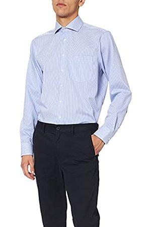 Seidensticker Herren Business Hemd – Gestreiftes Hemd mit einem Kent-Kragen und hohem Tragekomfort – Passform Modern Fit – Langarm – 100% Baumwolle