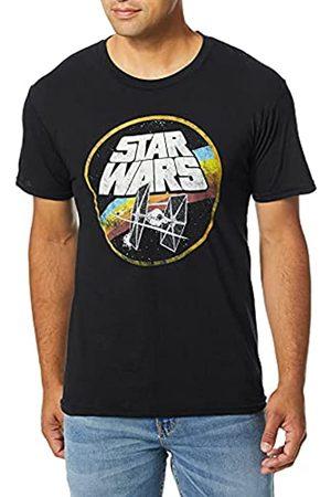 Star Wars Unisex-Erwachsene Classic Logo and TIE Fighter Men's Short Sleeve T-Shirt
