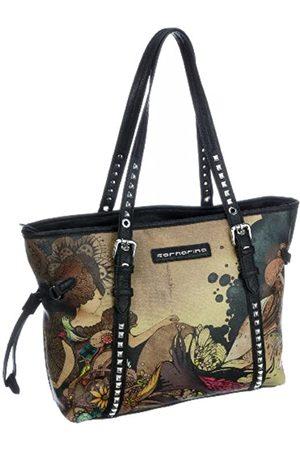 Fornarina Damen Shopper - Bags EDVIGE B601PS27, Damen, Shopper, (BLACK)
