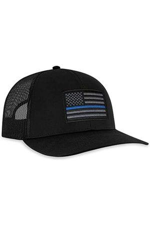 HAKA Herren Caps - Thin Blue Line Hat - Blue Line Trucker Hat Baseball Cap Polizei Snapback Golf Hat - - Einheitsgröße