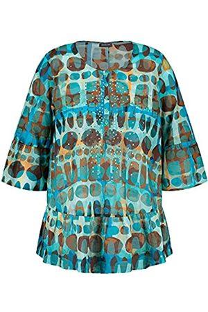 Samoon Damen Ausgestellte Tunika aus Organic Cotton A-Linie, ausgestellt