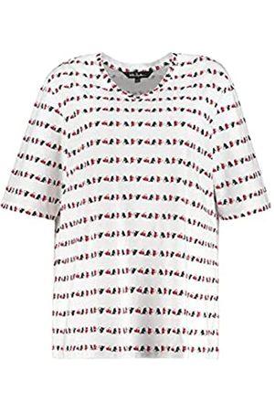 Ulla Popken Damen Shirt Relaxed mit Herzstreifen