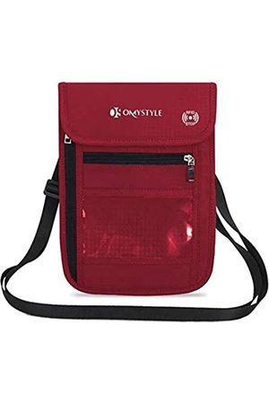 OMYSTYLE RFID-Blockierender Reisepass-Halstasche für Damen und Herren