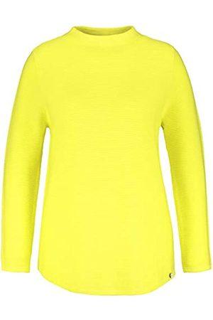 Samoon Damen Baumwoll-Pullover aus Rippstrick leger