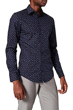 Seidensticker Herren Slim Fit Langarm mit Business Kent-Kragen Bügelleicht Druck-100% Baumwolle Businesshemd