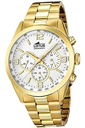 Lotus Herren Analoger Quarz Uhr mit Edelstahl Armband 18153/1