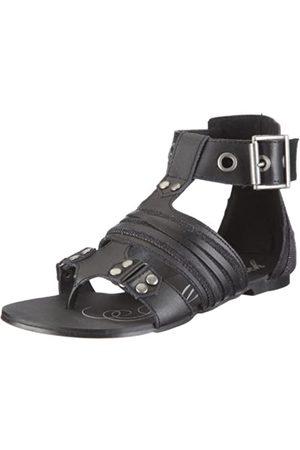 Bench Sicilia BLTA0195, Damen, Sandalen/Fashion-Sandalen, (Black/Black/Silver BK001-BK001-GY033)