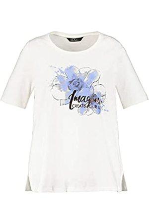 Ulla Popken Damen Shirt Classic mit Frontdruck