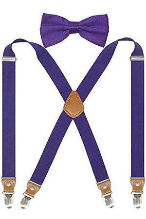 Doloise Hosenträger für Damen und Herren mit Fliege und X-Rücken, Hosenträger für Hochzeit und formelle Veranstaltungen, mit 2