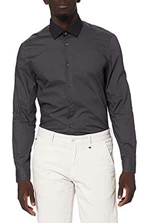 FIND Amazon-Marke: Herren Businesshemd Slim Fit Contrast Collar, XXL