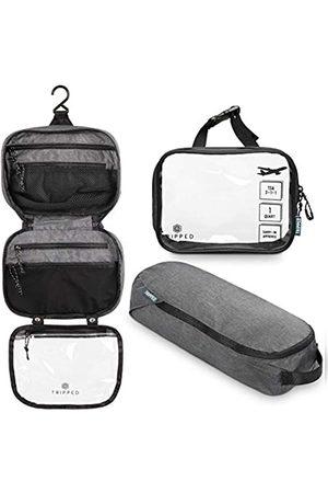 TRIPPED Travel Gear Kulturbeutel-Set: Hängende Reise-Kulturbeutel + 311 TSA Kosmetik-Flüssigkeitstasche + Ultraleichte Zubehör-Organizer-Tasche