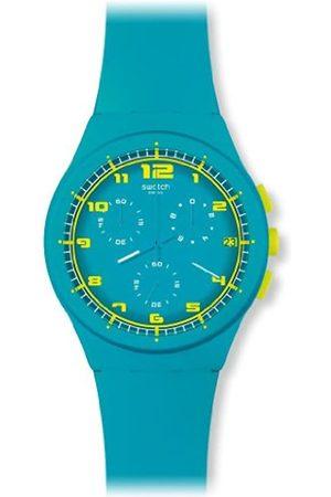 Swatch Unisex-Armbanduhr Chrono Plastic Acid Drop Chronograph Silikon SUSL400
