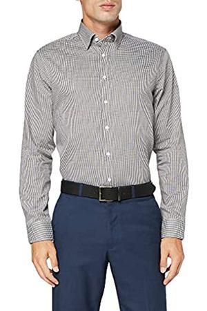 Seidensticker Herren Tailored Fit – Bügelfreies, Kariertes, Schmales Hemd Mit Covered-Button-Down-Kragen – Langarm – 100% Baumwolle Businesshemd