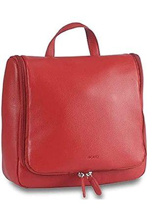 Picard Kulturtaschen aus robustem Leder, in der Farbe, mit Reißverschluss und Bügel