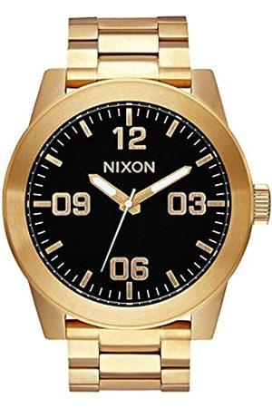 Nixon Herren Analog Quarz Uhr mit Edelstahl Armband A346-510-00