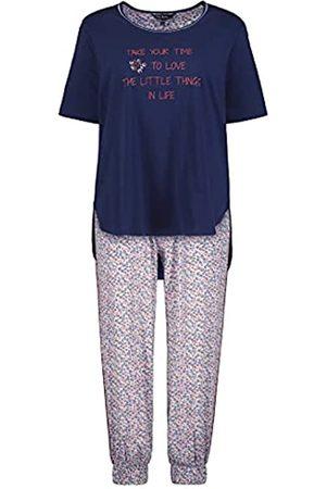 Ulla Popken Damen Pyjama, Take Time, OCS Pyjamaset