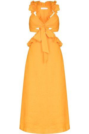 ZIMMERMANN Aliane ruffled strap dress