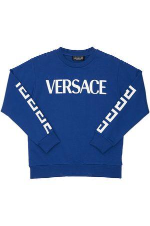 VERSACE Bedrucktes Sweatshirt Aus Baumwolle