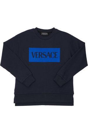 VERSACE Jungen Sweatshirts - Sweatshirt Aus Jersey Mit Logodruck
