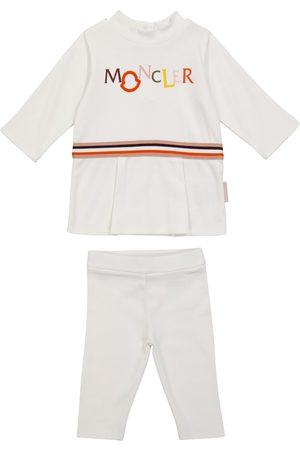 Moncler Baby Set aus Top und Leggings aus Baumwolle