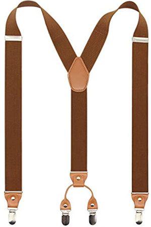 Timiot Herren Hosenträger mit Y-Rücken, 4 Metall-Clips, elastisch