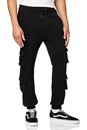 Urban classics Herren Double Pocket Terry Sweat Pants Freizeithose, Black