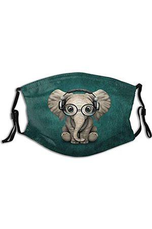 Gocerktr Elefant Gesichtsbedeckung für Damen Herren Mundschutz mit Filtertasche - - Einheitsgröße