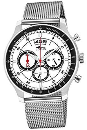 Lotus Herren Chronograph Quarz Uhr mit Edelstahl Armband 10138/1