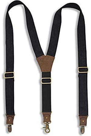 Wiseguy Original Suspenders Wiseguy Hosenträger aus segeltuch, mit verstellbarem elastischem Band auf der Rückseite, 3,5 cm breit
