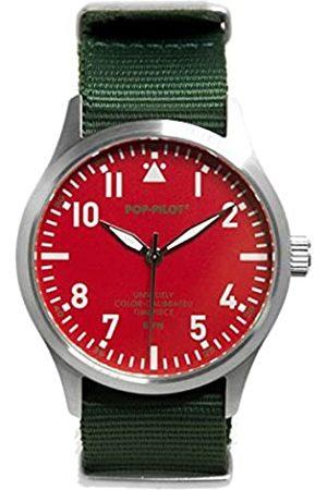 Pop-Pilot Herren Uhren - Herren Analog Quarz Uhr mit Nylon Armband P4260362632820