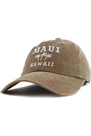 Trendy Apparel Shop Maui Hawaii mit Palme bestickt Unstrukturierte Baseball Cap - Beige - Einheitsgröße
