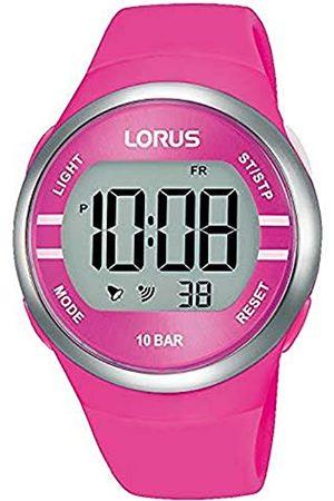 Lorus Damen Digital Quarz Uhr mit Silicone Armband R2343NX9