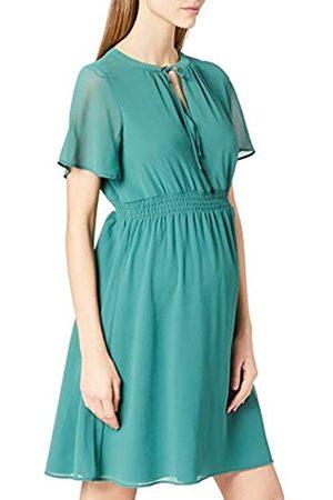 Noppies Damen Dress nurs ss Edison Kleid, Blue Spruce-P699