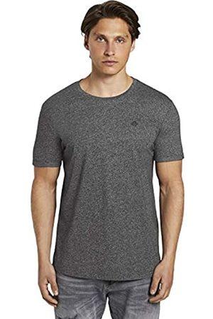 TOM TAILOR Herren Struktur T-Shirt, 10723-Black Non-Solid