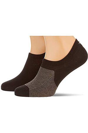 Tommy Hilfiger Mens Birdeye Men's Footie (2 Pack) Socks, Black