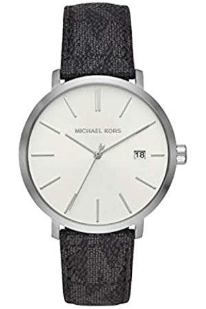 Michael Kors Herren Analog Quarz Uhr mit Leder Armband MK8763