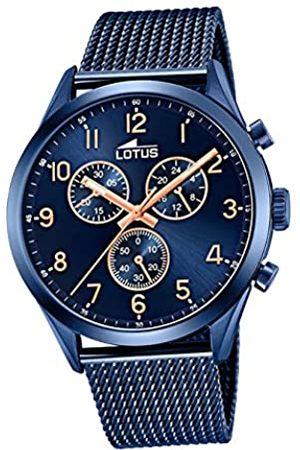 Lotus Herren Chronograph Quarz Uhr mit Edelstahl Armband 18638/1