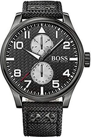 Hugo Boss Herren Analog Quarz Uhr mit Textil Armband 1513086