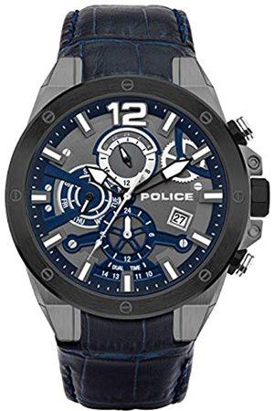 Police UnisexErwachseneAnalogQuarzUhrmitLederArmbandPL15711JSUB.03
